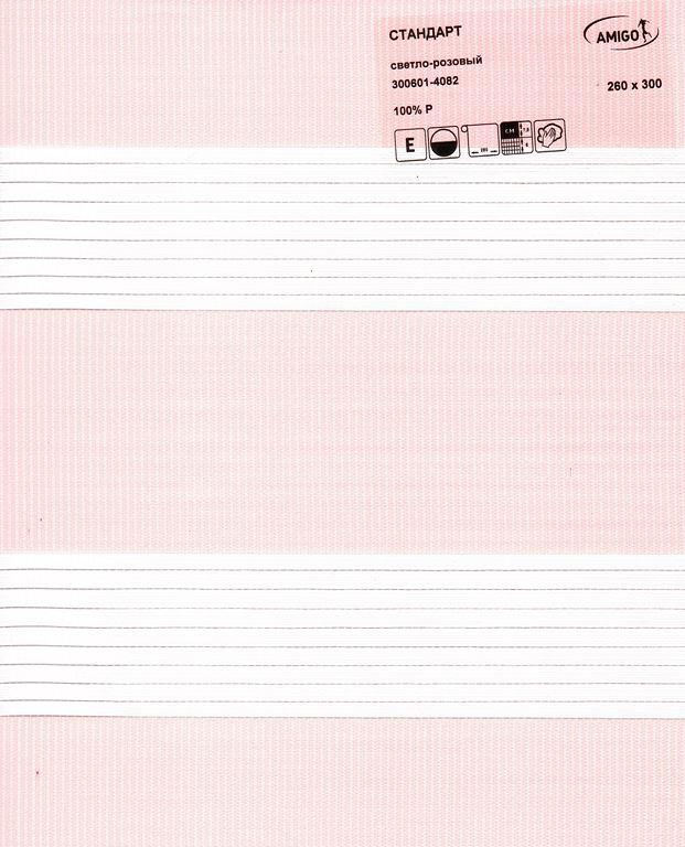 Рулонная штора «День-Ночь СТАНДАРТ, светло-розовый»
